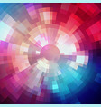 abstract shining concentric mosaic vector image vector image