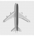 Airplane above icons Passenger plane isolated on vector image