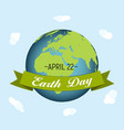 april 22 earth day background vector image vector image