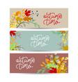 autumn banner set three pieces