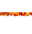 autumn seamless border with falling autumn leaves vector image vector image