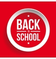 Back to School sign button vector image