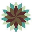 Beautiful Lotus Flower Wheel Mandala Oriental vector image vector image