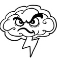 black and white angry storm cloud vector image