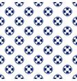 blue lifebuoy seamless pattern vector image vector image