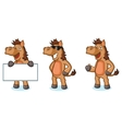 Brown Horse Mascot happy vector image vector image