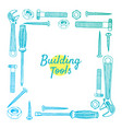 building tools frame isolated on white vector image