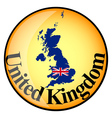 button United Kingdom vector image