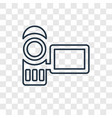 camcorder concept linear icon isolated on vector image