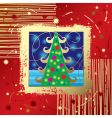 Christmas & New Year's card vector image vector image
