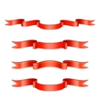Classic Red Ribbon Set vector image vector image