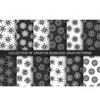 collection seamless virus patterns vector image vector image