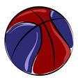 colored basketball ball on white background vector image