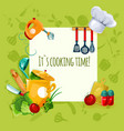 Cooking Utensil Background vector image