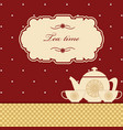 cute polka dot brown tea time background print vector image vector image
