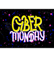 Cyber Monday lettering with a glitch effect vector image vector image