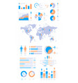 demographic infographic people population vector image