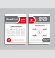 design brochure layout with place for your data vector image