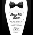 elegant black tie event invitation vector image vector image