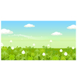 Field with clouded sky vector image vector image