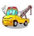 finger tow truck for vehicle branding character vector image