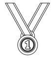first place award symbol black and white vector image vector image