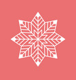 geometric snowflake vector image vector image