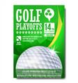 golf poster design for sport bar promotion vector image vector image