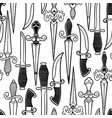 graphic ornate knifes vector image