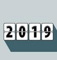 happy new year 2019 flip clock style vector image vector image