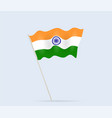 indian flag on flagpole waving in wind vector image