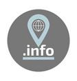 info domain zone flat logo vector image vector image