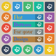 Laptop icon sign Set of twenty colored flat round vector image vector image