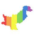 lgbt spectrum pixel pakistan map vector image