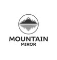 mountain and water mirror vector image vector image