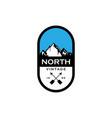 mountain badges logo design vector image vector image