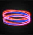 neon circles transparent light effect vector image vector image
