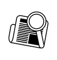 newspaper search letter news daily line vector image