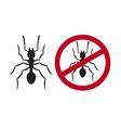 No ants sign - No ants symbol vector image vector image