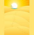 oasis in the desert vector image vector image