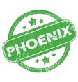 Phoenix green stamp vector image vector image