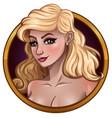 portrait beautiful blonde vector image