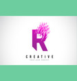 r letter logo design with purple colors vector image vector image
