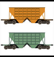 railway freight car vector image
