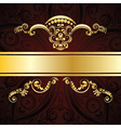 Red Decorative Background vector image vector image