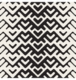 Seamless Black And White Chevron Geometric vector image