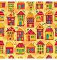 Seamless pattern colorful houses vector image vector image