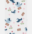 seamless pattern with little birds graphics vector image vector image