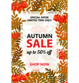 seasonal autumn sale vertical banner with vector image