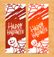 set art cards for happy halloweendesign vector image vector image
